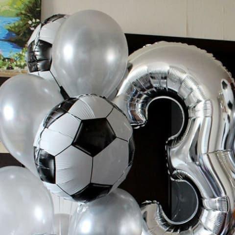 Фольгированный шар футбольный мяч