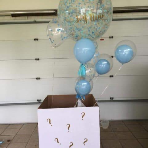 Воздушные шары в коробке сюрприз