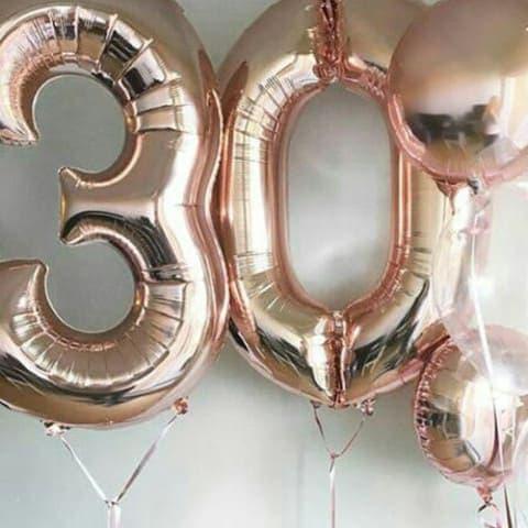 Воздушные шары фольгированные цифры
