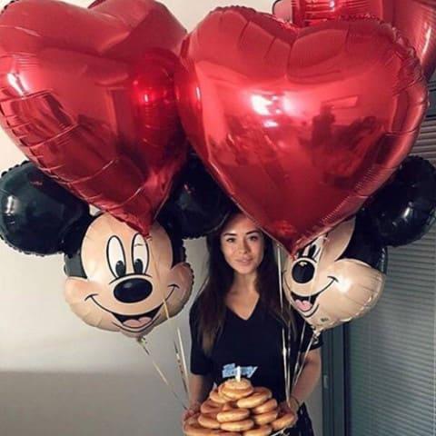 Воздушный шар большое красное сердце