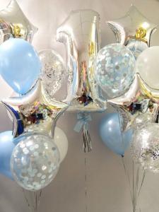 Набор из воздушных шаров с цифрой 1