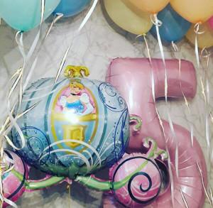 Воздушный шар цифра 5 для маленькой принцессы