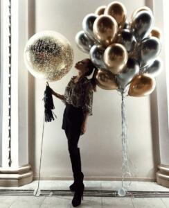 Набор воздушных шаров хром