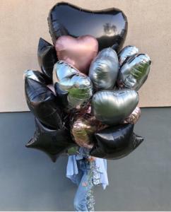 фонтан из фольгированных воздушных шаров