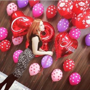 Фотосессия с воздушными шарами на 8 марта