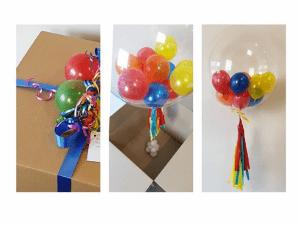 Коробка сюрприз и воздушные шары