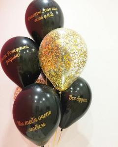 Воздушные шарики с индивидуальными пожеланиями