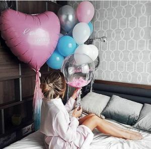 Воздушные шары в подарок для любимой