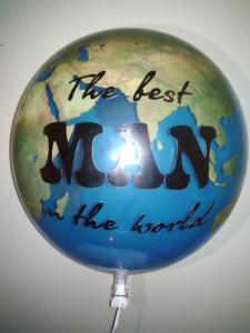 Воздушный шар земля с надписью