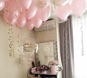 Розовые шары со стильным шаром