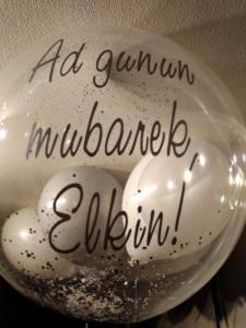 надпись на шаре баблс