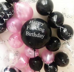 Черный воздушный шар 45 см с надписью