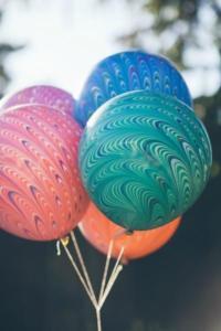 воздушный шар павлин