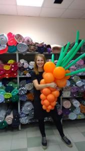 морковь из воздушных шариков