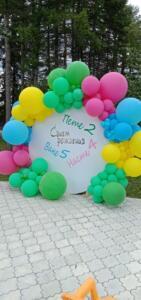 Круглая Фотозона из воздушных шаров
