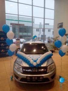 Оформление автомобиля шарами