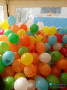 Печать логотипа и надуть воздушные шары