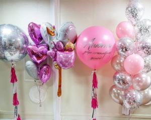 Набор воздушных шаров на выписку из роддома девочки