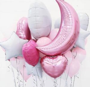 Шар полумесяц розового цвета