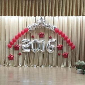Выпускной в школе оформленный шарами