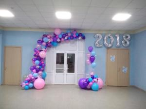 Гирлянда из шаров на выпускной в школу
