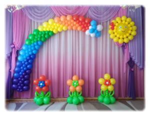 Оформление выпускного в садик воздушными шарами