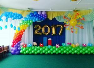 Оформление выпускного в детсаду воздушными шарами Казань