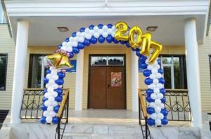 Оформление выпускного школы воздушными шарами