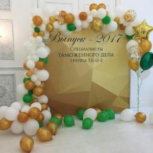 Оформление шарами выпускного в Казани