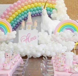 выпускной украшение воздушными шарами